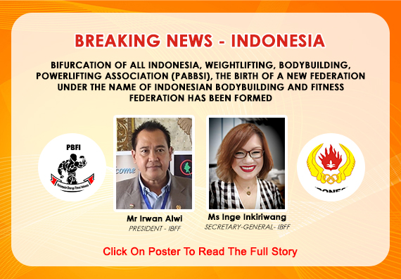 The Birth Of A New Federation Under The Name Of Indonesian Bodybuilding And Fitness Federation Has Been Formed...